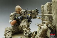 us navy seals devgru sharpshooter Small Soldiers, Toy Soldiers, Special Ops, Special Forces, Military Diorama, Military Art, Gi Joe, Us Navy Seals, Military Action Figures