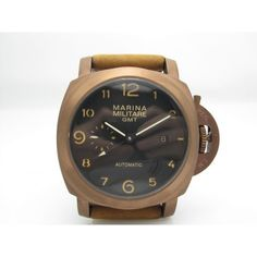 New watch from Parnis: Parnis 44mm Marin... Check it out here! http://parniswatches.net/products/parnis-44mm-marina-militare-rose-gold-case-sandwich-coffee-dial-orange-number-watch