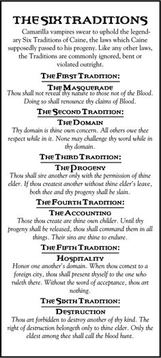 the six traditions