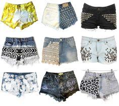 some cute shorts. DIY ideas