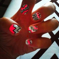 Trying some crazy nails for my gymnastics meet :)