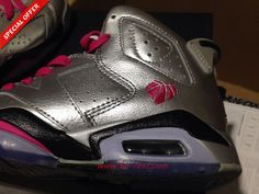 sports shoes 20757 81924 ... wholesale where to buy cheap valentine day 543390 009 silver pink air  jordan 6 retro 761ff canada nike ...