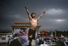 The 60 Most Powerful Photos Ever Taken That Perfectly Capture The Human Experience: A man protests in Tiananmen Square, Beijing Stuart Franklin