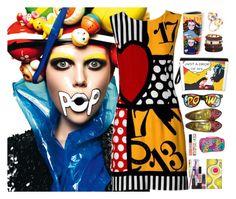 """.... Pop art ...."" by simona-altobelli on Polyvore featuring moda, Moschino, Chanel, Papà Razzi, Elena Meyer, Versace, TheBalm, Smashbox e popart"