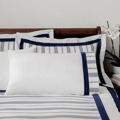 Dorma Navy Monaco Collection Cuffed Pillowcase