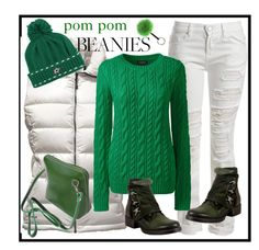 Green pom pom :-) by amisha73 on Polyvore featuring moda, Lands' End, The North Face, Sans Souci, Miz Mooz and Reebok