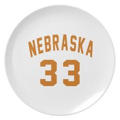 #Nebraska 33 Birthday Designs Plate - #giftidea #gift #present #idea #number #33 #thirty-third #thirty #thirtythird #bday #birthday #33rdbirthday #party #anniversary #33rd