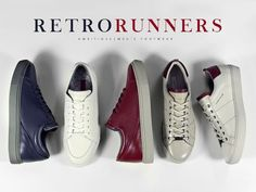Retro Runners. Take a look at our ambitious shoes. Be AMBITIOUS and jois us. #fashion #clothes #shoes #style #menswear #outfit #street fashion #men's fashion #streetstyle #Footwear #ambitious #design #leathershoes #ambitiousmood