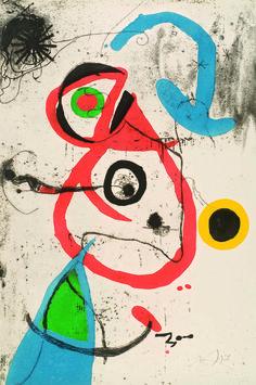 Joan Miró, 1973: Barcelona Series, Plate 8