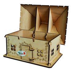 Купить деревянный Украинский домик в интернет-магазине Kroko&woodi