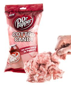 Dr Pepper Cotton Candy-Cotton candy imbued with the famous 23 flavors of the popular soda. Fruit Smoothie Recipes, Smoothie Prep, Snack Recipes, Dr. Pepper, Cotton Candy Flavoring, Weird Food, Red Fruit, Junk Food, Clean Eating Snacks