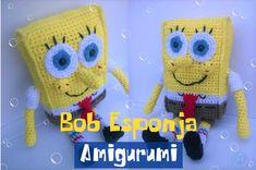 Patón gratuito para tejer el amigurumi de Bob Esponja.