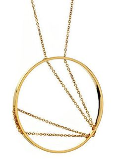 Vanessa Gade Inner Circle Necklace 107 in Yellow Gold