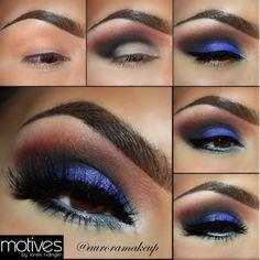 eye makeup, blue, cobalt