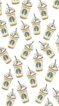 Starbucks frapuccino iPhone wallpaper. Patterns and backgrounds.