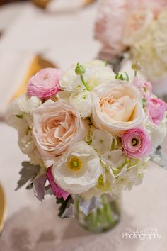 wedding flowers portland Oregon  Romantic blush pink bouquet. Roses hydrangea ranunculus peonies  Www. Sophisticatedfloral.com