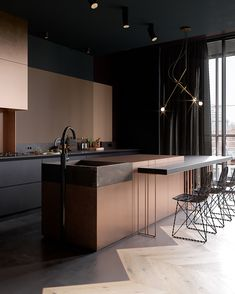 In a dark mood! The Copper Field is designed by Cartelle Design and is located in #SaintPetersburg #Russia // Visuals by Denis Krasikov #restlessarch