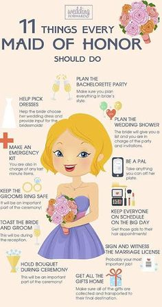 Maid of honor duties |pinterest: @BossUpRoyally [Flo Angel]