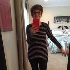 Was a #hemlocktee....now is a #larktee! Love how sewing gives the power to change your mind!!#stripes #lovesewing #2016makes by alyson.sews