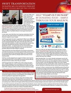 Newsletter article for St. Mary's Food Bank Alliance