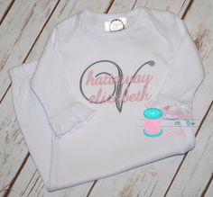 Monogrammed baby gown baby gown monogrammed baby gifts baby gown monogrammed baby gown personalized baby gown monogrammed bodysuit personalized baby items shower gifts negle Gallery