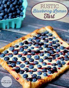 Rustic Blueberry Lemon Tart
