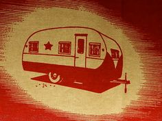 Moda kitchen towel with camper imprint