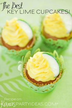The Best Key Lime Cupcake Recipe! By Kara Allen | Kara's Party Ideas - The Place for All Things Party KarasPartyIdeas.com