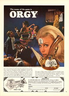 """Have You Tried a Sleep Drink? """"The Name of the Game is Orgy. Funny Vintage Ads, Comics Vintage, Weird Vintage, Vintage Posters, Vintage Images, Old Advertisements, Retro Advertising, Retro Ads, Sleep Drink"""