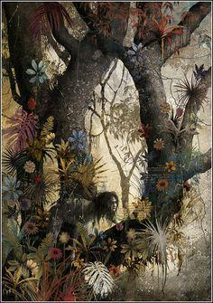 Gabriel Pacheco. El libro de la Selva. Rudyard Kipling. El libro de la Selva. SextoPiso, 2013. ISBN: 9788415601180. Illustrator Gabriel Pacheco.