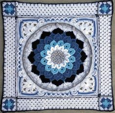 Find your free crochet or knit pattern for afghan, blanket, pillow, shawl and learn new crochet stitch. Share your crochet or knit work with community. Motif Mandala Crochet, Crochet Motifs, Crochet Blocks, Crochet Afghans, Crochet Squares, Easy Crochet Patterns, Crochet Stitches, Free Crochet, Knitting Patterns