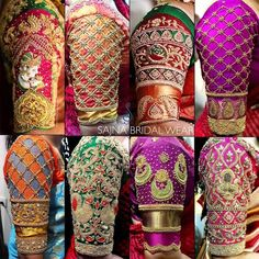 To get your outfit customized visit us at Chennai, Vadapalani or call/msg us at / for appointments, online order… Wedding Saree Blouse Designs, Half Saree Designs, Pattu Saree Blouse Designs, Saree Wedding, Bridal Lehenga, Blouse Designs Catalogue, Best Blouse Designs, Designer Blouse Patterns, Hand Designs