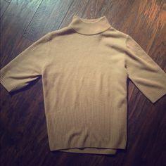 Tan sweater shirt Size large but fits medium/large Tops Blouses