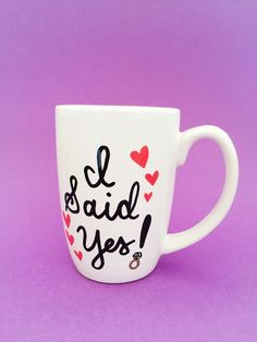 I Said Yes Mug, He Put A Ring On It Mug, Engagement Gift, Gifts For The Bride, Bride Mug, Wedding Mugs, Engagement Mug by MaxandMitchCo on Etsy https://www.etsy.com/listing/290307311/i-said-yes-mug-he-put-a-ring-on-it-mug