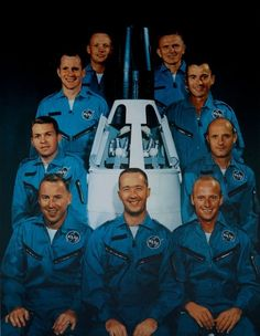 GEMINI MEN: The first new astronauts since the original Mercury Seven: Neil Armstrong, Frank Borman, John Young, Tom Stafford, Pete Conrad Jim McDivitt, Jim Lovell, Elliot See and Ed White.