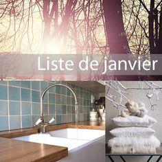 Liste de janvier - zalinka pour organiser et décorer sa maison