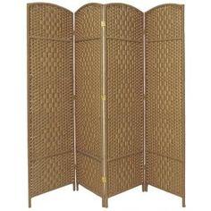 Oriental Furniture 6 ft. Dark Mocha 4-Panel Room Divider FBOPDMND4PDMOC - The Home Depot