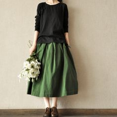 vintage cotton skirts