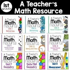 These units compliment the guided math series. This is a teacher& guide to . 1st Grade Math, Kindergarten Math, Second Grade, Teaching Time, Teaching Math, Big Ideas Math, 1st Year Teachers, Subtraction Strategies, Math Wall