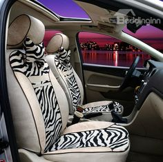 New Arrival Fashion Zebra Print Deluxe High Quality Seat Covers