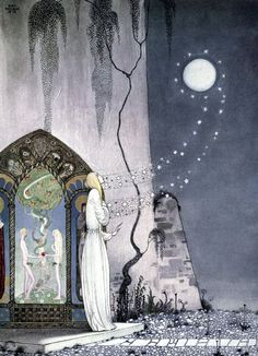 Some inside illustrations of 'East of the Sun and West of the Moon - Old Tales from the North'; illustrated by Kay Nielsen. Published 1914 by Hodder and Stoughton.  See the complete book here