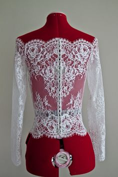 Wedding Lace Bolero Scalloped Neckline Bolero by PolinaIvanova