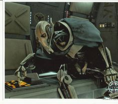Star Wars Photo General Grievous 8 x 10 inch Photo at controls