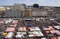 Vapputori 1st May = laborer day (every year) - Vaasa, Finland