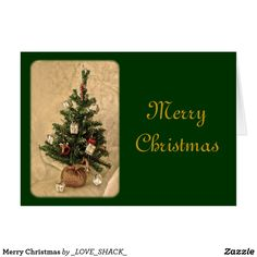 Merry Christmas Tree Holiday Card by Janz