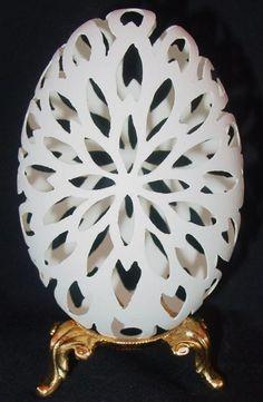 Goose egg Carvings