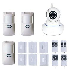 SunMall Network WiFi Home Video Surveillance Camera System Home Alarm with Door Security and Pir Motion Detector Video Surveillance Cameras, Security Surveillance, Surveillance System, Motion Detector, Home Protection, Security Camera System, Security Door, Alarm System, Ip Camera