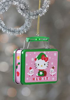 Something to Tidings You Over Ornament in Hello Kitty, #ModCloth