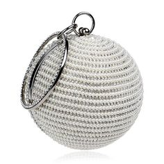 Pearl and Stone Beaded Ball Clutch with Wrist Handle. TenTop-A Best Price  Women  Pearl Beaded Diamond Tellurion Evening Bag Bridal Wedding Round ... 2f51a26cc735