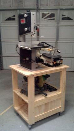 Roll-Around Band-Saw Shop-Cart